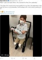 【海外発!Breaking News】四肢の一部を失った7歳男児 スター・ウォーズの義手に「嬉しくて大興奮」(米)<動画あり>