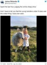【海外発!Breaking News】羊を完璧に操る3歳少女、キュートな姿に心を奪われる人続出(英)<動画あり>