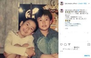 幼少期の山下健二郎(画像は『山下 健二郎 2020年5月5日付Instagram「子供の日!!」』のスクリーンショット)