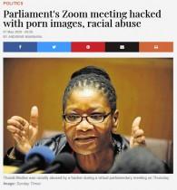 【海外発!Breaking News】 南ア国会のZoom会議に大量のポルノ画像 4分半で会議終了
