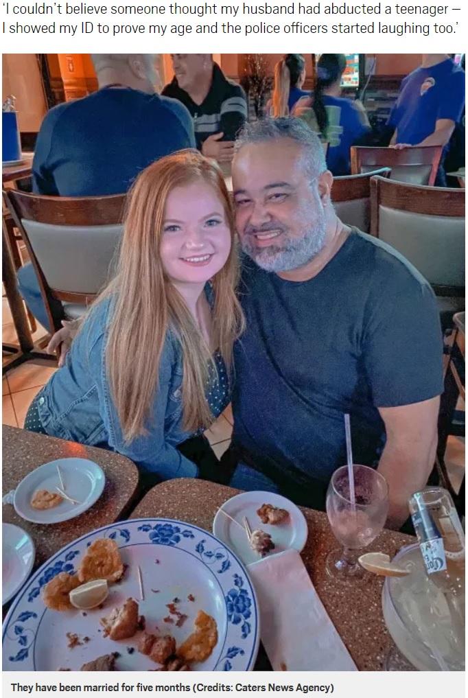 周囲に誤解されることも多いという年齢差27歳の夫婦(画像は『Metro 2020年4月30日付「Couple with 27-year age gap reported to police because they thought wife was a kidnapped teen」(Picture: Caters News Agency)』のスクリーンショット)