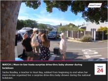 """【海外発!Breaking News】""""ドライブスルー方式""""のベビーシャワーに妊婦が大感激(南ア)<動画あり>"""