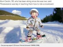 【海外発!Breaking News】1歳のスノーボーダー、オーストリア・アルプスで華麗な滑りを披露<動画あり>