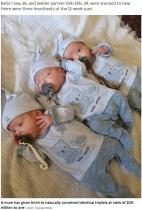 【海外発!Breaking News】2億分の1の確率! 一卵性の三つ子を自然妊娠で授かった26歳(英)