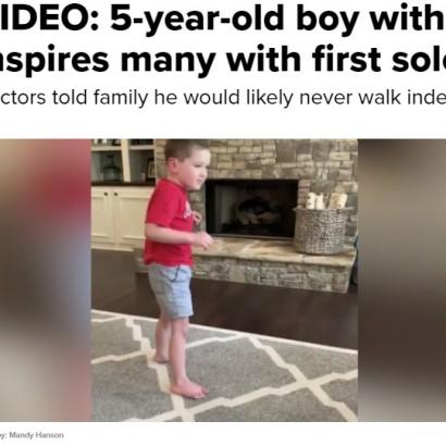 【海外発!Breaking News】「歩くことはないだろう」と言われた脳に障がいを持つ5歳児、初めて歩く(米)<動画あり>