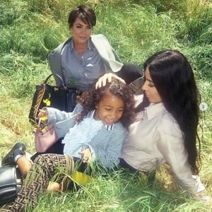 祖母クリス・ジェンナー、母キム、ノースちゃんの3世代ショット(画像は『Kris Jenner 2020年6月15日付Instagram「Happy Birthday to my beautiful granddaughter Northie!!!!」』のスクリーンショット)