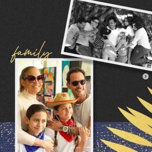 元夫マーク・アンソニーとの家族ショット(画像は『Jennifer Lopez 2020年6月21日付Instagram「Happy Father's Day flaco!!」』のスクリーンショット)