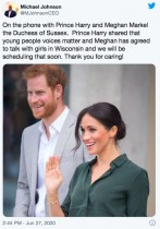 【イタすぎるセレブ達】ヘンリー王子・メーガン妃夫妻、ヘイトクライムの被害者女性を電話で励ます