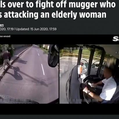 【海外発!Breaking News】勇敢なバスドライバー、バスを飛び降り高齢の女性を強盗から救う(ハンガリー)<動画あり>