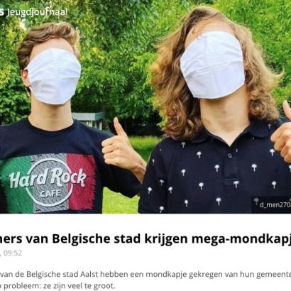 【海外発!Breaking News】配布されたマスクが大きすぎて市民が嘲笑 市は「プリーツを伸ばさないで使用するように」(ベルギー)