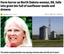 【海外発!Breaking News】「まるで砂時計の中」サイロに落ちた女性、貯蔵されていたヒマワリの種に埋もれて亡くなる(米)