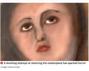 【海外発!Breaking News】聖母マリアの顔がまるで別人に 17世紀の名画が家具修理業者によって台無しになる(スペイン)