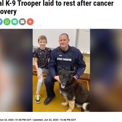 【海外発!Breaking News】末期がんの警察犬 安楽死直前に涙の見送り(米)<動画あり>