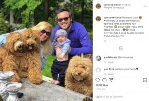 3頭のゴールデンドゥードルと暮らす一家(画像は『Samson The Goldendoodle (f1b) 2020年6月1日付Instagram「Weekend crew!」』のスクリーンショット)