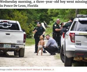 【海外発!Breaking News】オムツだけで行方不明になった自閉症の3歳児、2頭の飼い犬が守り抜く(米)