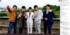 TBS金曜ドラマ『MIU404』が撮影再開を報告(画像は『【公式】金曜ドラマ『MIU404』 2020年6月4日付Twitter「2ヶ月ぶりに、撮影が再開できました」』のスクリーンショット)