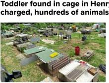 【海外発!Breaking News】犬用ケージに入れられた1歳児、600匹超の動物と共に劣悪な環境から救出される(米)<動画あり>