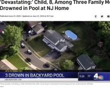 プールで溺れた8歳女児を救おうとした母と祖父、泳ぎ方を知らず3人とも溺死(米)
