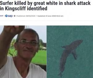 【海外発!Breaking News】サーフィン中サメに襲われた60歳男性、友人ら果敢に救出も死亡(豪)<動画あり>