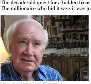 【海外発!Breaking News】大富豪がロッキー山脈に隠した2億円相当のお宝、10年の時を経てついに発見される