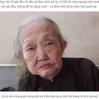【海外発!Breaking News】19歳から64年間、一度も髪を切らず洗髪もしていない83歳女性(ベトナム)