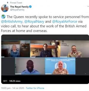 【イタすぎるセレブ達】エリザベス女王、ビデオ電話で交流した軍人の話に満面の笑み