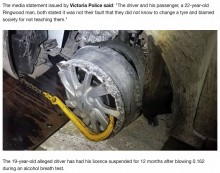 【海外発!Breaking News】パンクしたまま運転し続けて免停になるも「タイヤ交換を教えない社会が悪い」(豪)