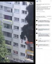【海外発!Breaking News】黒煙と炎が迫る中、10メートル下にジャンプした兄弟を隣人ら見事キャッチ(仏)<動画あり>