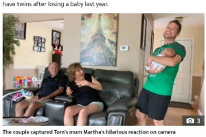 【海外発!Breaking News】双子の妊娠をサプライズで隠し通した夫婦、誕生した2人目を見た母親は「本物の赤ちゃんなの?」(米)<動画あり>