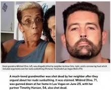 【海外発!Breaking News】裸で日光浴した高齢女性に「服を着ろ!」隣人の男が射殺(米)