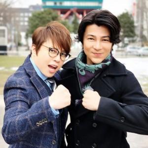 西川貴教と武田真治(画像は『西川貴教 2019年3月15日付Instagram「W筋肉でロケをしています!」』のスクリーンショット)