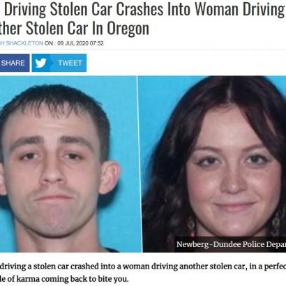 【海外発!Breaking News】盗難車同士が偶然衝突 2つの事件まとめて解決に「警察署で語り継がれるかも」(米)