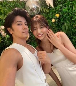 7月1日に結婚した武田真治と静まなみ(画像は『武田真治 Shinji Takeda official 2020年7月2日付Instagram「いつも応援してくださる皆様へ」』のスクリーンショット)