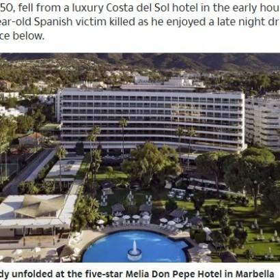 【海外発!Breaking News】ホテル7階から転落した男性の巻き添えで、テラスにいた43歳男性死亡(スペイン)