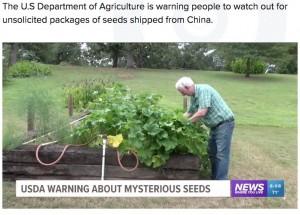 知らずに謎の種を植えてしまったドイルさん(画像は『5newsonline.com 2020年8月3日付「Booneville man plants mysterious seeds from China being sent across the U.S.」』のスクリーンショット)