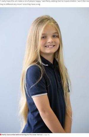 【海外発!Breaking News】9歳少年が人生初のヘアカット「がんの治療で髪を失った子をハッピーにしたい」と決断(英)