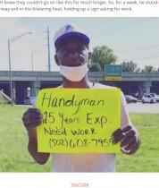 【海外発!Breaking News】家を失い「仕事を下さい」と街頭に立った男性に温かい支援集まる(米)<動画あり>