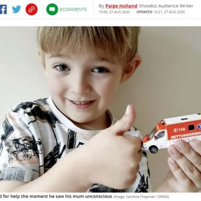【海外発!Breaking News】目の前で母親が倒れた5歳児、おもちゃの救急車に書かれた緊急連絡先に電話をかけ母親を救う(英)