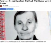 遺体安置室に運ばれた81歳 床に転がり生きて発見される(露)