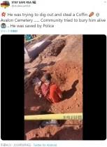 【海外発!Breaking News】棺を盗もうと墓を掘り起こした男、住民らに地中に埋められる(南ア)