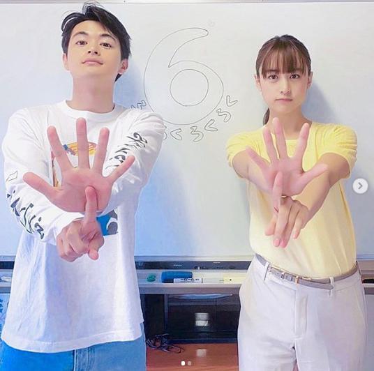 瀬戸康史と山本美月『パーフェクトワールド』でのオフショット(画像は『MIZUKI YAMAMOTO 2019年5月28日付Instagram「今夜9時からは、『パーフェクトワールド』6話です!」』のスクリーンショット)