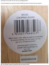 【海外発!Breaking News】「まな板として使わないで」大手家庭用品店のまな板の注意書きが物議醸す(英)