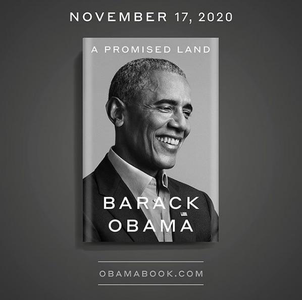 今月17日に発売された回顧録『A PROMISED LAND』(画像は『Barack Obama 2020年9月17日付Instagram「There's no feeling like finishing a book, and I'm proud of this one.」』のスクリーンショット)