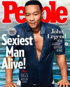 """2019年の""""最もセクシーな男性""""に選ばれたジョン・レジェンド(画像は『John Legend 2019年11月12日付Instagram「Wow.」』のスクリーンショット)"""