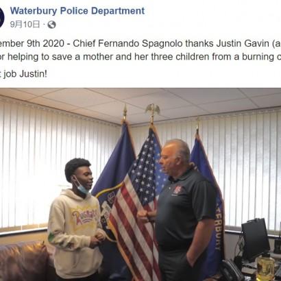 【海外発!Breaking News】炎に包まれた車から母子4人を救出した18歳少年「本能がそうさせた」(米)
