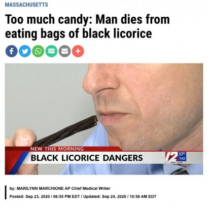 【海外発!Breaking News】ソフトキャンディーを食べ過ぎた男性が死亡、添加物「甘草」の大量摂取が原因と判明(米)