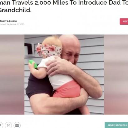 【海外発!Breaking News】生後10か月の初孫を初めて抱きしめた祖父が感激の涙(米)<動画あり>