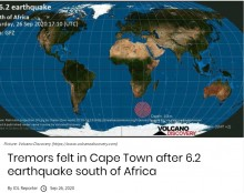 【海外発!Breaking News】南アフリカ沖合でマグニチュード6.2の地震 西ケープ州では51年ぶりの揺れを観測