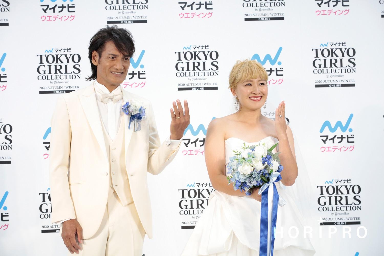電撃結婚した本並健治さんと丸山桂里奈(C)ホリプロ