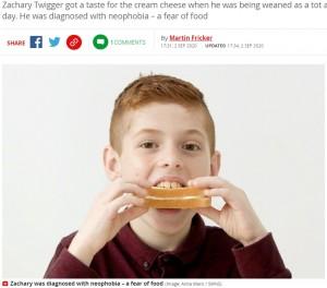 【海外発!Breaking News】8年以上もチーズサンドしか食べられなかった10歳少年、催眠療法で食物恐怖症を克服(英)